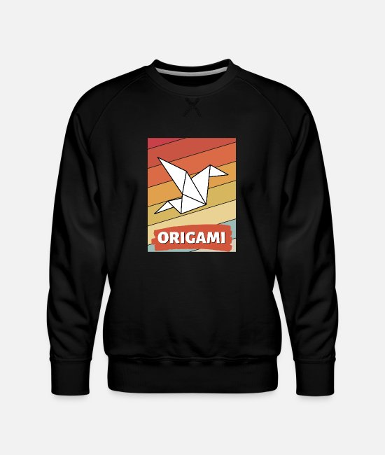 Love Hoodies & Sweatshirts - Great gift idea for handicraft fans of origami paper - Men's Premium Sweatshirt black