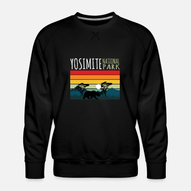 Helped Dome Nature Lover Yosimite National Park - Men's Premium Sweatshirt
