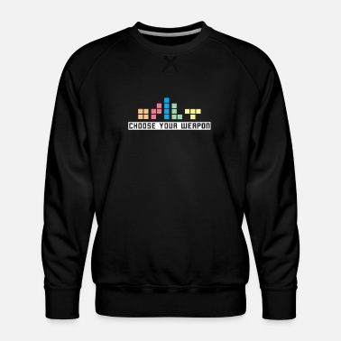 Ordinateur Retrogaming / cadeau T-shirt - Sweat ras-du-cou Premium Homme