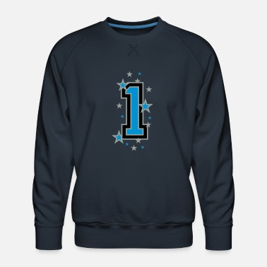 Number The number 1 - Men's Premium Sweatshirt