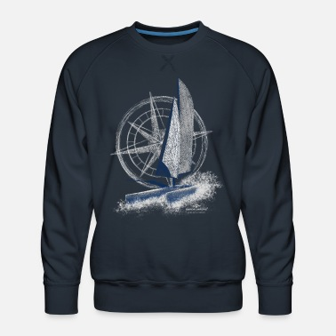 Garda Lakers catamaran compass - Men's Premium Sweatshirt