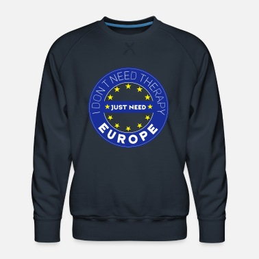 Europa EU-therapie Europa brexit demo anti-sterren - Mannen premium sweater