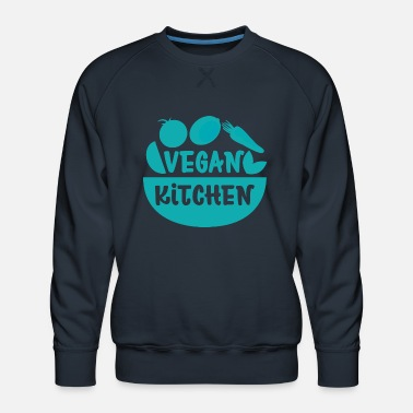 Vegan Kitchen Cooking Meat Free Gift - Men's Premium Sweatshirt
