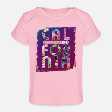 Los Angeles California Colorful Paradise - Organic Baby T-Shirt
