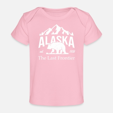 Moose Alaska Mountain Grizzly Bear Vintage - Baby bio-T-shirt