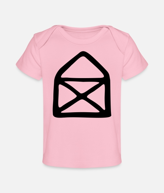 Drawing Baby T-Shirts - House of Nicholas - Organic Baby T-Shirt light pink