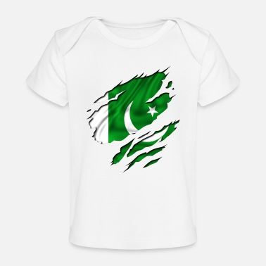 Country Flag Football Sport And Arab Art Jesus country flag pakistan - Organic Baby T-Shirt