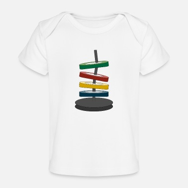 Coloured disks - Organic Baby T-Shirt