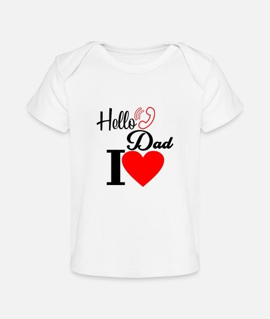 Ich Liebe Daddy Dieses Viel Personalisierte Baby Jungen Mädchen T-shirt T-shirts