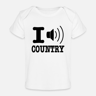 Country I music country / I love country - Ekologisk T-shirt baby