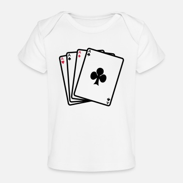 Cards poker cards - Baby bio-T-shirt