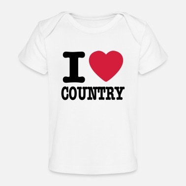 Country i love country / i heart country - Økologisk T-shirt til baby
