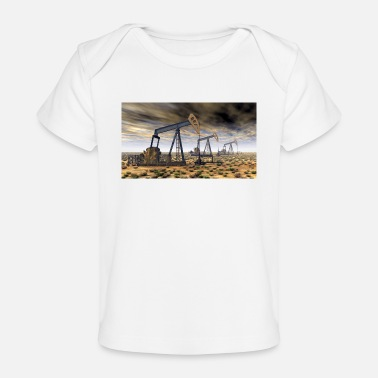Crude Oil Oil pumps, oil production, oil production, oil - Organic Baby T-Shirt
