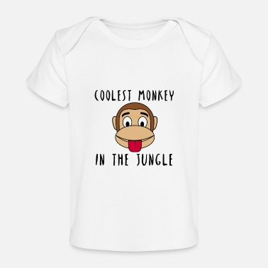 Jungle Coolest Monkey Jungle in het idee van de - Baby bio-T-shirt