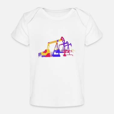 Oil Oil pumps, oil production, oil production, oil - Organic Baby T-Shirt