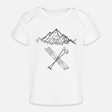 Stone Mountains Alps Mountaineering - Organic Baby T-Shirt