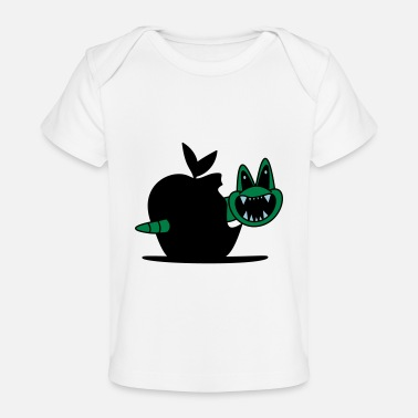 apple vs worm - Organic Baby T-Shirt