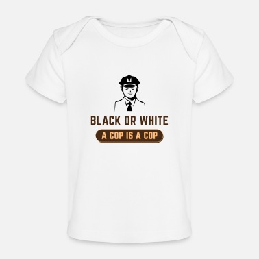 Cop Zwart of wit COP IS EEN COP - Baby bio-T-shirt