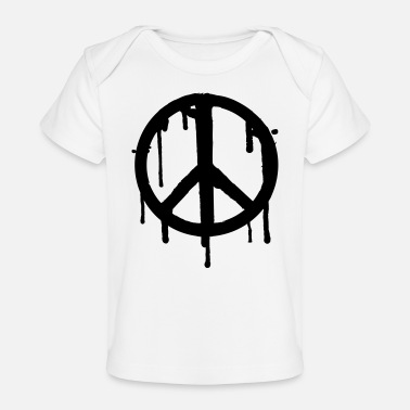 Drippy Dripping Peace - Organic Baby T-Shirt