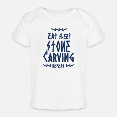 Stone Carving Carving stone - Organic Baby T-Shirt