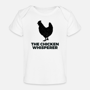 Style The Chicken Whisperer - Distressed Style - Organic Baby T-Shirt