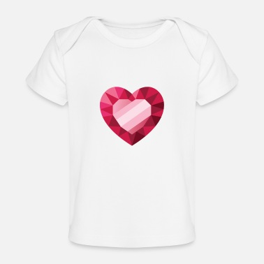 Pink red heart in heart design - Organic Baby T-Shirt