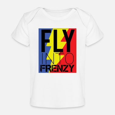 Speed Frenzy Fly frenzy at breakneck speed - Organic Baby T-Shirt