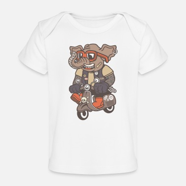Scooter Driver Elephant scooter driver - Organic Baby T-Shirt
