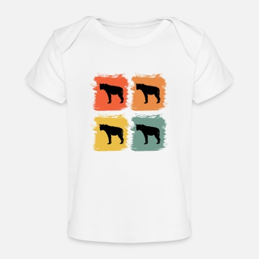 Luft Hyena Wild Animal Retro Pop Art Gaveidee - Økologisk T-shirt til baby