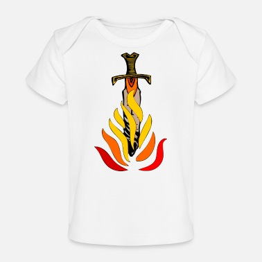 Sword in flames - Organic Baby T-Shirt