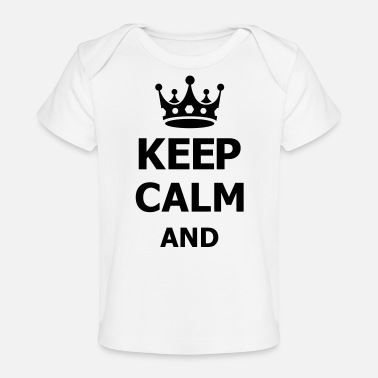 Keep Calm keep calm - Baby bio-T-shirt
