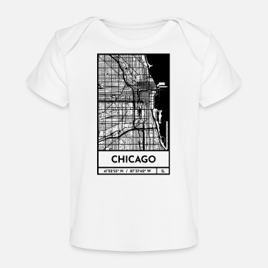 Chicago | Design Stadtplan | Retro City Map - Baby Bio-T-Shirt