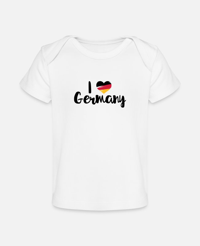 Germania Baby shirts - I love Germany - Baby bio-T-shirt wit