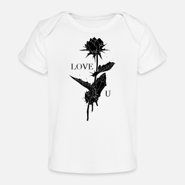 Love You Rose - T-shirt bio Bébé