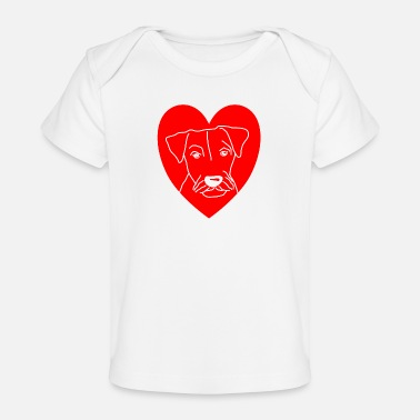 Purebred Dog dog shirt german hunting terrier heart dog gift - Organic Baby T-Shirt