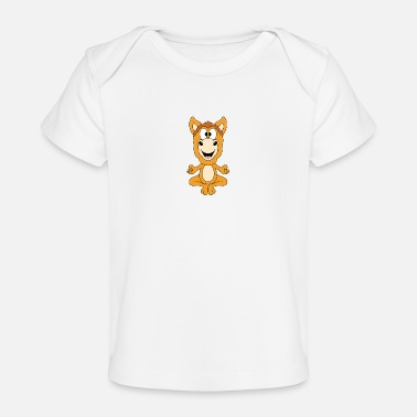 Gallop Funny horse - yoga - chilling - relaxing - animal - Organic Baby T-Shirt