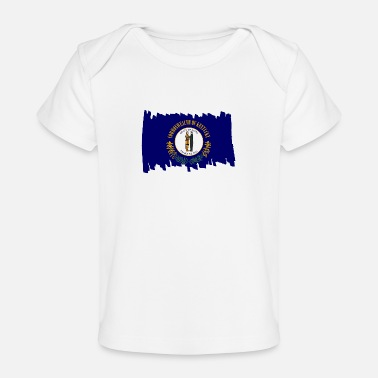 Vertical Kentucky USA - Flag - brush vertical - Organic Baby T-Shirt