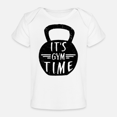 Gym IT'S GYM TIME - Organic Baby T-Shirt