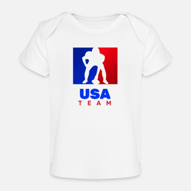 Usa fot oss TEAM USA - Ekologisk T-shirt baby