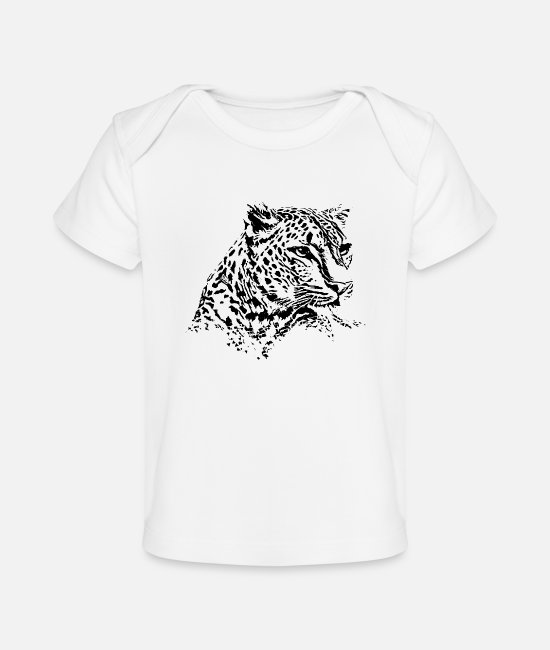 Gift Baby shirts - Leopard - Baby bio-T-shirt wit