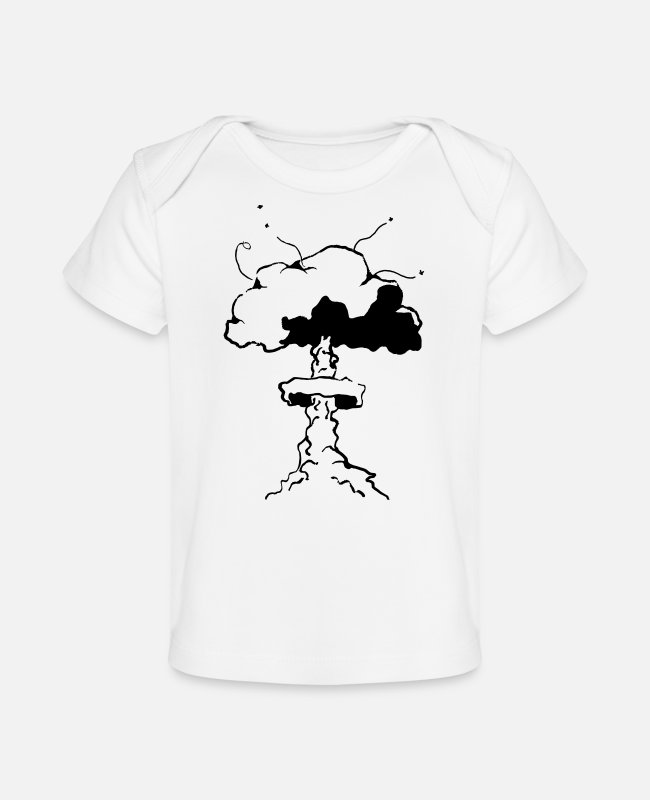 Nuclear Waste Baby T-Shirts - nuclear fart - Organic Baby T-Shirt white