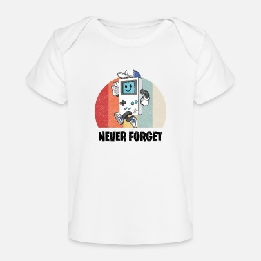 Vintage Retro 70s 80s Flower Power Never Forget - Organic Baby T-Shirt