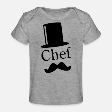 Like A Sir Like a Chef / Like a Sir / Mustache / Moustache 1c - Vauvojen luomu-t-paita