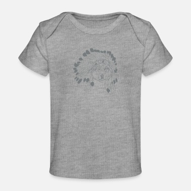 American Indian Wolf Headdress - Organic Baby T-Shirt