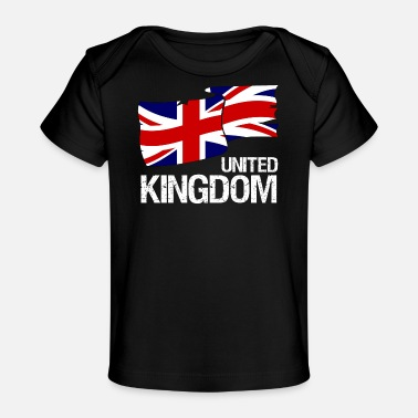 Jack Great Britain Union Jack Flagge - Design - Baby Bio-T-Shirt