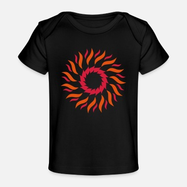 Psichedelico Psychedelic sun - Organic Baby T-Shirt