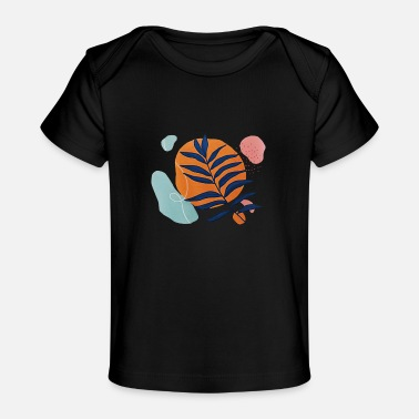 Tropic Tropic Floral abstract - Baby bio-T-shirt