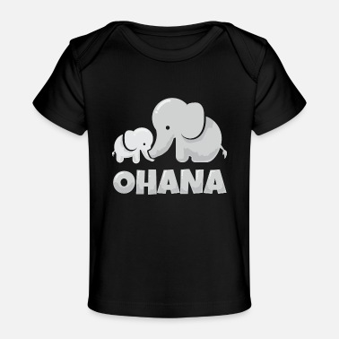 Holiday Hawaii Ohana Elephant Family Gift Idea - Organic Baby T-Shirt