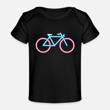 Neon A bicycle made of neon tubes - Organic Baby T-Shirt