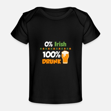 Day 0% irländsk - drucken 100%; St Patricks Day - Ekologisk T-shirt baby